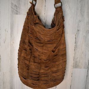 urban outfitters suede large brown hobo bag